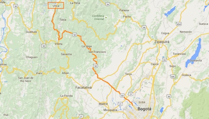 utica-mapa-ruta-desde-bogota