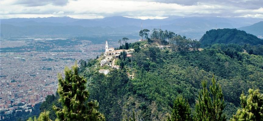 El Cerro Monserrate deBogotá.
